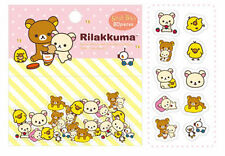 ~ * New San-x Rilakkuma Bear 80pcs 10 Design Sticker Sack Pack Japan*~ FREE SHP