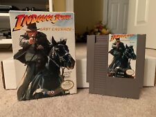 Indiana Jones Last Crusade - Nintendo NES Video Game - Cart with Box