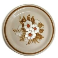 """Mountain Wood Collection Stoneware Dried Flowers 10 1/2"""" Dinner Plate"""
