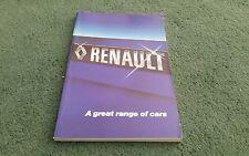 1979 1978 RENAULT UK RANGE BOOK BROCHURE 4 5 6 12 14 16 15 17 18 20 30 Aug 1978