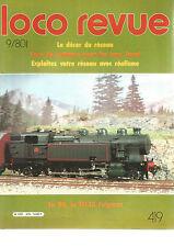 LOCO REVUE N°419 DECOR DU RESEAU / LES INOX JOUEF / HO LA 141.TA FULGUREX