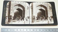 PHOTO STEREOSCOPIQUE 1907 JJ KILLELEA PORTE CHANPORI JAIPUR INDIA INDE