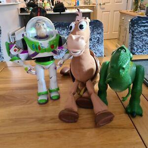 Disney Pixar Toy Story Bullseye + Rex The T.Rex+ Flame Buzz  electronic.