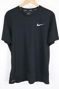 Nike Men's sz XL Black Breathe Rapid Challenger Running T-Shirt Short Sleeve