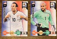 2010 Panini Tim Howard Rookie & Landon Donovan - USMNT Soccer Cards