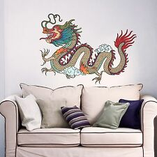 Dragon Wall Decals Full Color Decal Colorful Sticker Chinese Home Art Decor DD31