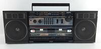 Vintage Sanyo MW228 Radio Cassette Boombox Detachable Speakers 1987 * READ *