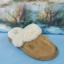 Ugg Kids Chestnut Cozy Suede Shearling Lined Slippers 12 5236