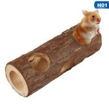 Wooden Tunnel Pet Hamster Mouse Gerbils Rabbit Rodents Wood Tube Cage Chew New