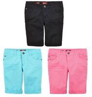 Arizona Girls Bermuda Shorts Solid Adjustable Regular Slim Plus 7 7S 12+ 14 NEW