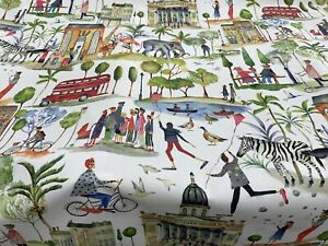 Out and about paintbox digitally  Printed Fabric By PT. Comes in one length