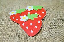 Felt Strawberry - Red - Baby - Mobile - Craft - Scrapbook - Embellishment