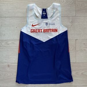 Nike Pro Elite Team GB Tape Cut Track and Field Athletics Singlet Men's Large