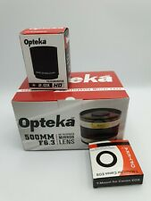 Opteka 500mm F6.3 Mirror Lens with  Canon T- EOS Adapter & 2.0 x Teleconverter
