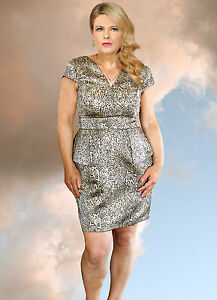 BLACK & SILVER DRESS DESIGNED BY PHILIP ARMSTRONG SIZE 16 NEW