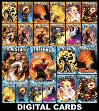 Topps Marvel Collect TOO HOT TO HANDLE [22 CARD BLUE FLAME/RED FLAME SET]