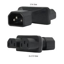 IEC 60320 C14 to 2 IEC 60320 C13 Plug Adapter, 15A, 250V