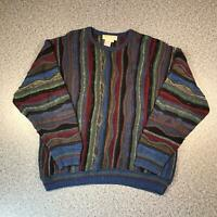 Vintage 90s NORM THOMPSON Cosby Style Mens Sweater 2XL | 3D Knit Jumper