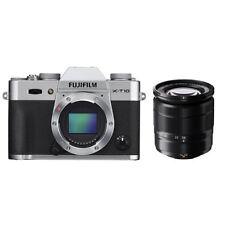 Fujifilm X-T10 Mirrorless Digital Camera - Silver with 16-50mm Lens