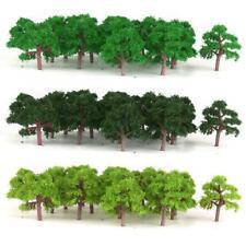 75 pieces Green Trees Model Train Wargame Diorama Garden Scenery Scale 1:300