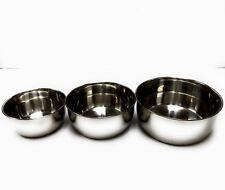 3 PC Stainless Steel Kitchen Baking Mixing Bowls Set DishWash Safe