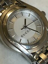 Ladies GUCCI Stainless Steel Silver Tone 5500L Wrist Watch