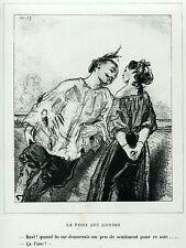 Gavarni: Masques et Visages. 28. Le Foire aux Amours,3. Caricatura. Satira.1857