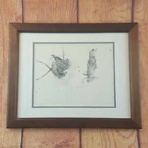 Andrew Wyeth Dry Brush Print Bee Hive Storing Up 1959 Lithograph Matted  Frame
