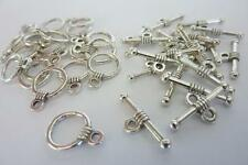 Dainty Silver Tone Toggle Clasps 20 sets Jewellery Making Craft