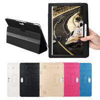 Universal Folio Leather Stand Cover Case For 10/10.1 Inch Android Tablet PC US