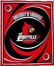 "RARE College Fleece Fabric - NCAA Louisville Cardinal - Anti-Pill 48""x 60"" Panel"