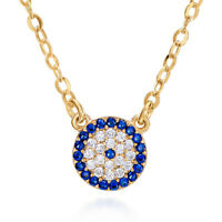 Evil Eye Necklace, Eye CZ Pendant Necklace Turkish Nazar Greek Necklace Mati