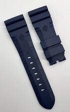 Authentic Officine Panerai 26mm x 22mm Accordion Blue Rubber Tang Strap Band OEM