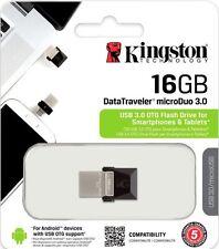 Kingston Digital 16GB Data Traveler Micro Duo USB 3.0 Micro USB OTG DTDUO3/16GB
