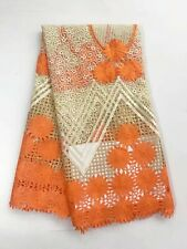 1 Yard for Blouse Cord Lace French Tulle Beaded African Fabric Sequins Headcloth