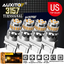 4x Amber Yellow 3157 3156 4157 4057 LED Turn Signal Blinker Corner Light bulb