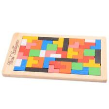 Wooden Puzzles Jigsaw Board Toys Tangram Brain Teaser Children Puzzle Toys LT