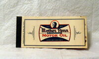 Mother Penn Motor Oil Cupon Book Dryer Clark and Dryer Oil Company