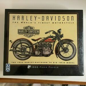 FX Schmid Harley Davidson 1933 74 Bug Twin 1000 Piece Jigsaw Puzzle Excellemt