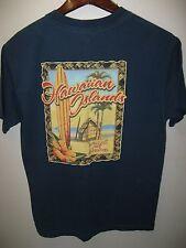 Hawaiian Islands Land Of Aloha Hawaii USA Surfboard Tiki Hut Souvenir T Shirt M