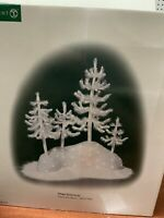 Dept 56, Village Accessories, Fiber Optic Woods - WHITE Trees, illuminated - New