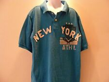 Urban Pipeline Boys Polo Short Sleeve Shirt Size L Color Blue New York