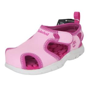 Timberland Little Harbor Sandal Toddler Shoes Leather Pink Summer Sport 4189R