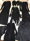 Lot of 6 Halloween black goth dresses cosplay costumes. 1 Vintage Julie Miller