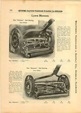 1910 PAPER AD 3 PG Peerless National Keystone Little Nipper Push Lawn Mower