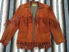 vtg 30s 40s FRINGE LEATHER JACKET Hillbilly Westerns Boho suede coat tassles