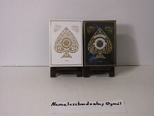 Pair of Artisan Playing Card Decks  Black and White  -Theory 11