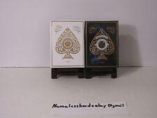 Pair of Artisan Playing Card Decks  Black and White  -Theory 11