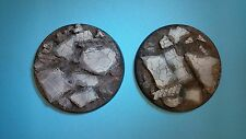 Unpainted 80mm resin bases rubble scenery Forgeworld Dreadnought Leviathon 40k