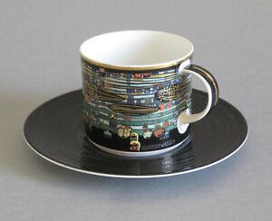 Hundertwasser Kaffeetasse °Gesang der Wale° Tettau ars mundi limitiert Tasse